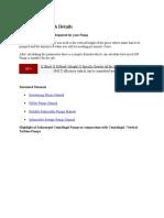 FAQ – Pump Tech Details