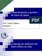 Igbd - 02 SQL Ddl Parte 1