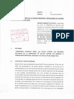 Nemesio Barrientos - Agraviado realiza la denuncia ante la Fiscalía Ambiental