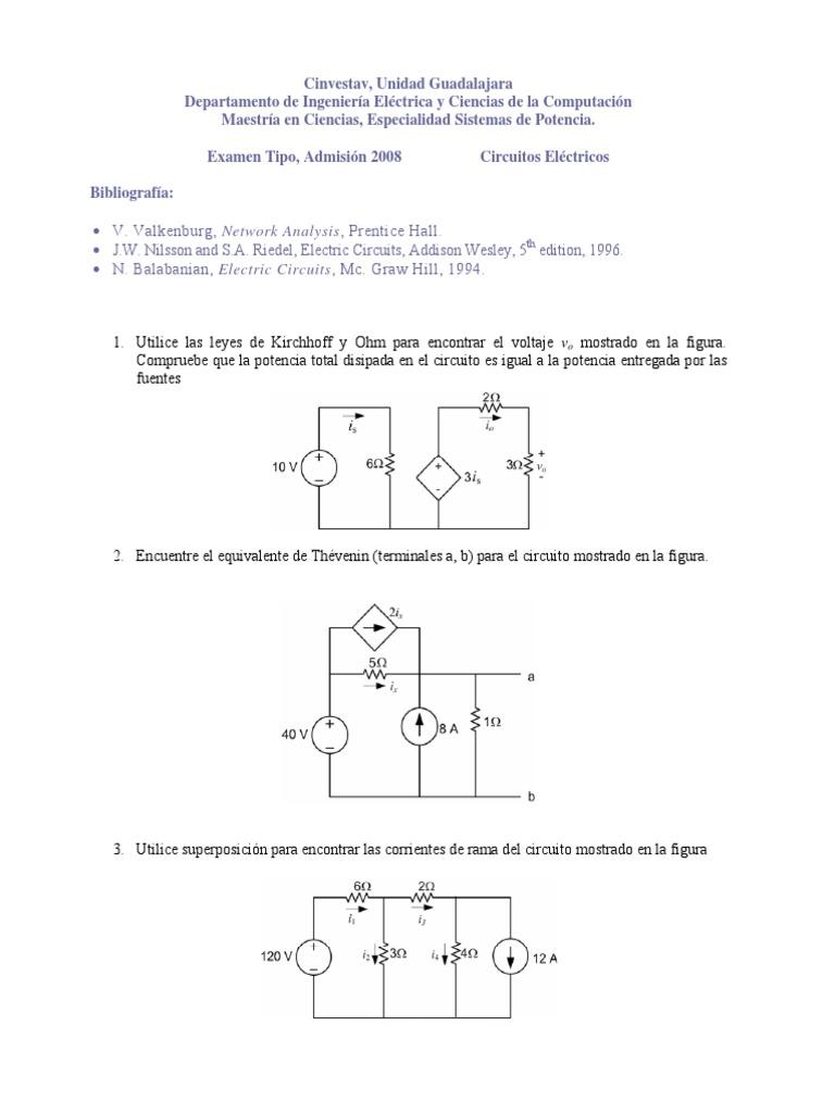 Circuito And : Circuitos electricos extipo cinvestav guadalajara