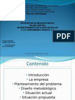 Propuestas Mejoras Tallercentralmantenimientoplantapellaspresentacion Powerpoint