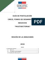 GUIA DE POSTULACIÓN CRECE Multisectorial Araucanía 2016_VF
