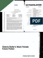 Octavia Butler's Black Female Future Fiction