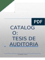 Catalogo Tesis Auditoria Iese