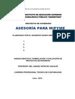 Proyecto Asesoría Mipyme_2016