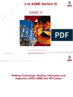 An Introduction to ASME Section IX
