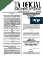 Sumario Gaceta Oficial 39.430