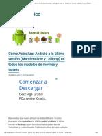 Cómo Actualizar Android a La Última Versión (Marshmallow y Lollipop) en Todos Los Modelos de Móviles y Tablets _ Android Básico