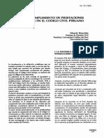 El cumplimiento de prestaciones dinerarias en el Codigo civil peruano - Eduardo Benavides.pdf