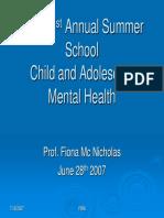 Summer School Child MH Talk June 2007 (1)