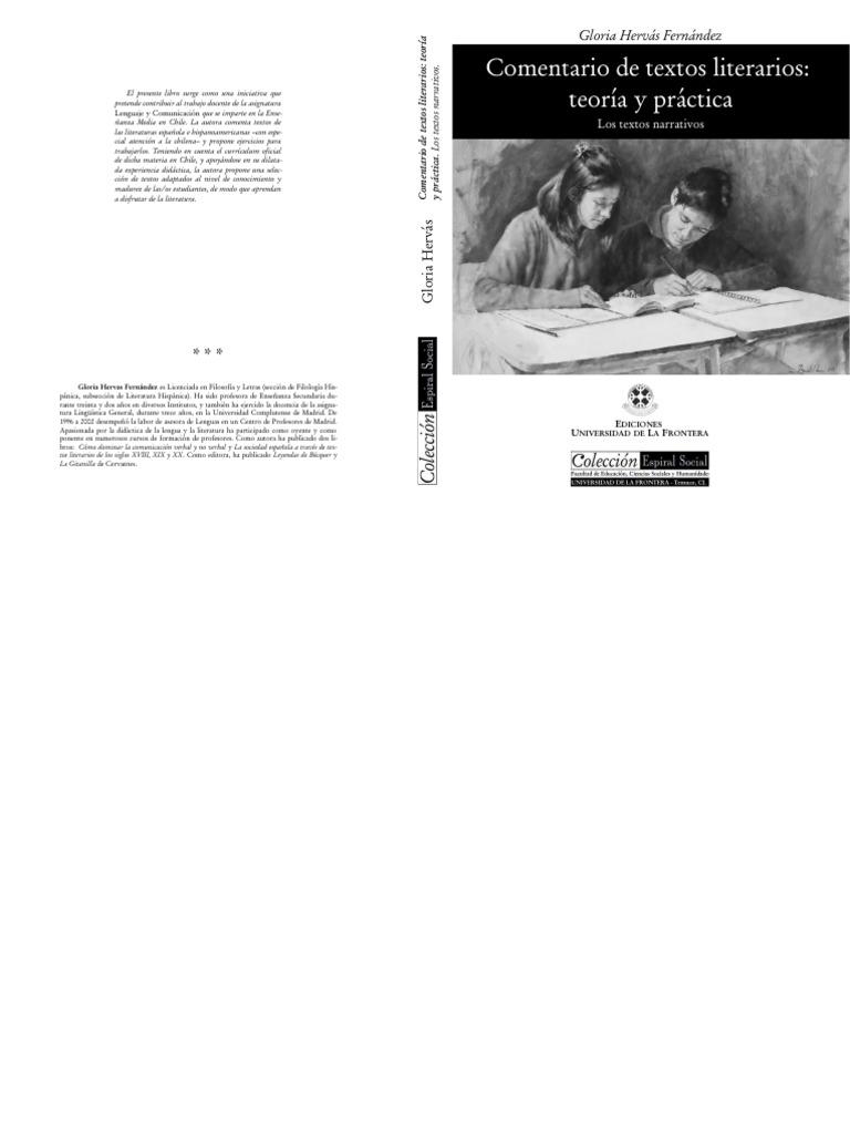 COMENTARIO DE TEXTOS LITERARIOS: TEORÍA Y PRÁCTICA. LOS TEXTOS NARRATIVOS