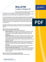 Detecting Coolant Leaks in Engine Oil