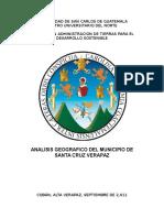 Analisis Geografico Componente Ambiental Del Municipio de Santa Cruz Verapaz 2011