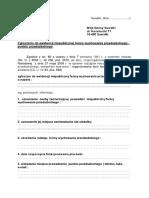 Wniosek o Rejestracje Niepublicznej Placowki Oswiatowej Wraz z Wykazem Zalacznikow-plik