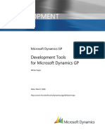 Development Tools Microsoft Dynamics Gp