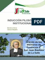 INDUCCIÓN FILOSÓFICA INSTITUCIONAL