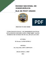 Proyecto Clima Institucional y Desempeño Docente Sicaya Rossana