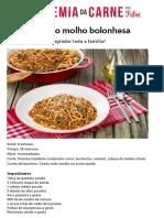 Espaguete Ao Molho Bolonhesa