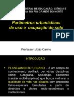Parametros Urbanisticos de Uso e Ocupacao Do Solo