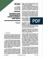 Acumulação de Capital, Internacionalização da Economia e as Pequenas e Médias Empresas