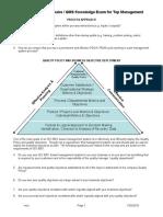 Pre-Audit Questionnaire for Management