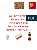 Andrew Koon Nutrition Project HLP1081 M-Th