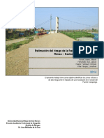Estimación del riesgo de la franja marginal del río Rímac – Sector Puente Carapongo