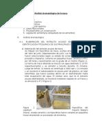 Analisis Bromatologico de La Maca