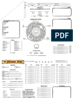 The Secret Fire Character Sheet