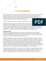 Principles of Pet Food Palatability