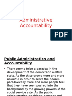 Administrative Accountability