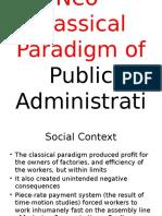 Neo Classical Paradigm(1)