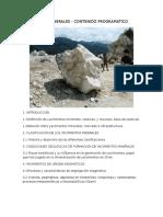 Programa - Yacimientos Minerales