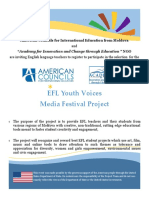 EFL Youth Voices Festival Project