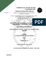 """PROYECTO""""EL DESARROLLO DE CAPACIDADES, HABILIDADES Y ACTITUDES ARTÍSTICAS"""