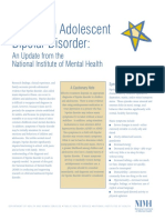 Child and Adolescent Bipolar Disorder Update