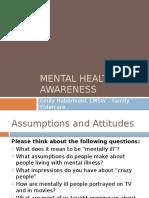 mental health awareness self-training module