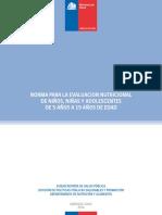 Norma Para La Evaluacion Nutricional de Niños y Adolescentes de 5 a 19 Años 2016