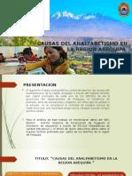 ANALFABETISMO DE AREQUIPA