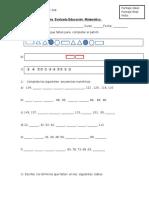 Guía  Evaluada  PATRONES Y SECUENCIAS 5°