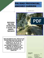 Perfil Transitabilidad Pajaritos y Bolognesi Sur