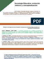 TECNOLOGÍA EDUCATIVA, EVOLUCIÓN HISTÓRICA Y CONCEPTUALIZACIÓN.pptx