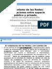 El Urbanismo de Las Redes. El Salvador, Noviembre 2015.