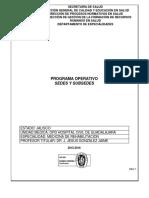 Programa Operativo Rehabilitacion Hcfaa