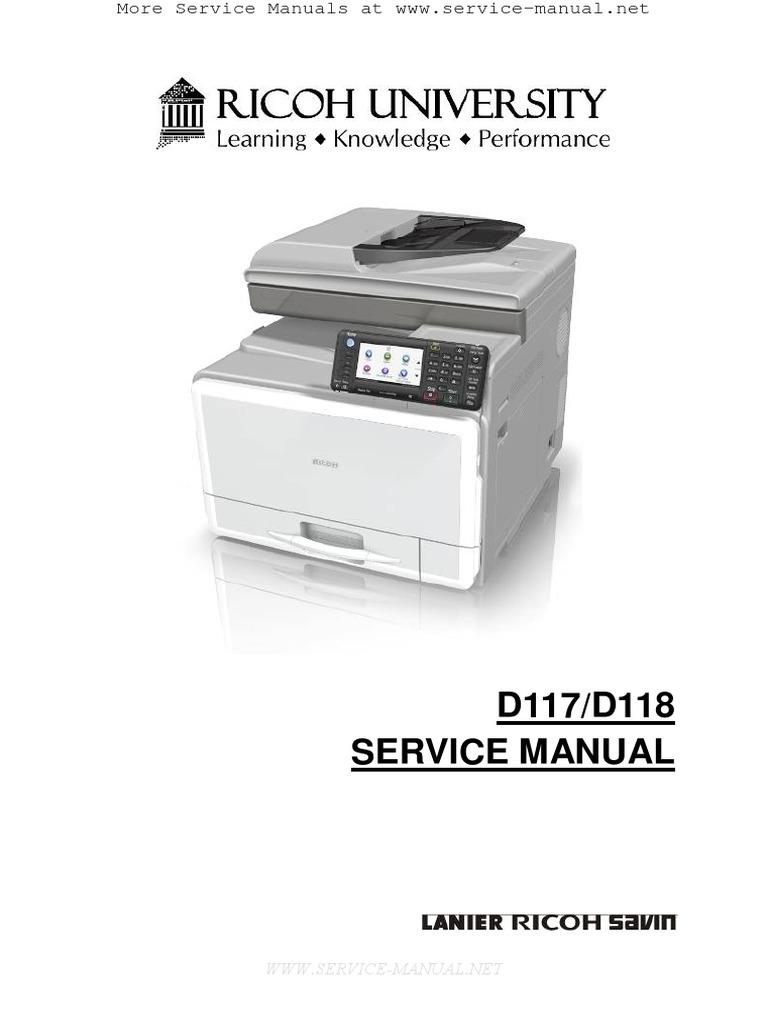 Aficio MPC305SP, MPC305SPF Service Manual   Switch   Electrical Connector