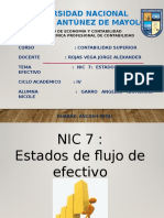 NIC 7 ESTADO DE FLUJOS DE EFECTIVO