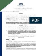 Formulario - Acuerdo de Terminacion Arrendamiento
