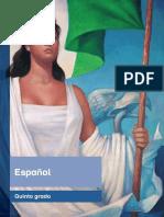 Primaria Quinto Grado Español Libro de Texto