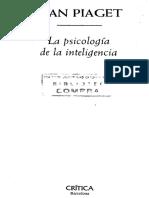 Jean Piaget-La Psicologia de La Inteligencia (1999)