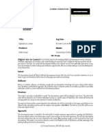 Sample One Pager for Documentary Production Proposal